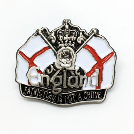 "England Badge ""Patriotism is Not A Crime"""